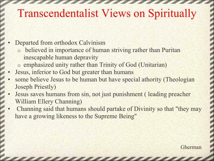 Transcendentalist Views on Spiritually