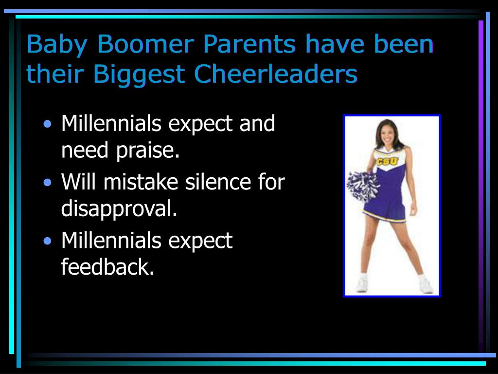 Baby Boomer Parents have been their Biggest Cheerleaders