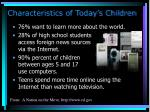 characteristics of today s children