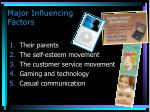 major influencing factors