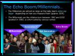 the echo boom millennials