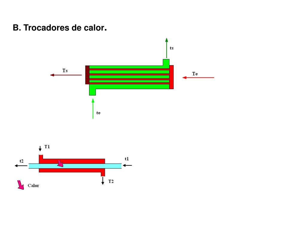 B. Trocadores de calor