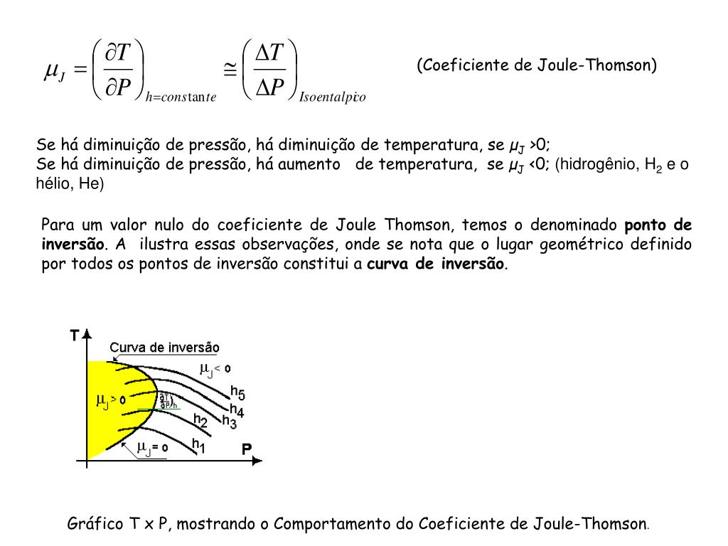 (Coeficiente de Joule-Thomson)
