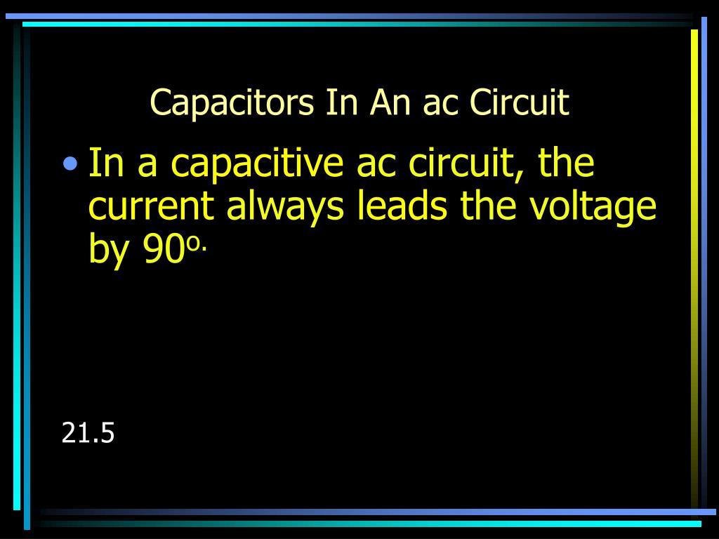 Capacitors In An ac Circuit