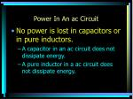 power in an ac circuit
