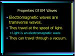 properties of em waves