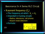 resonance in a series rlc circuit