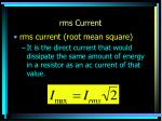 rms current