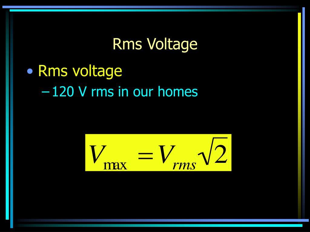 Rms Voltage