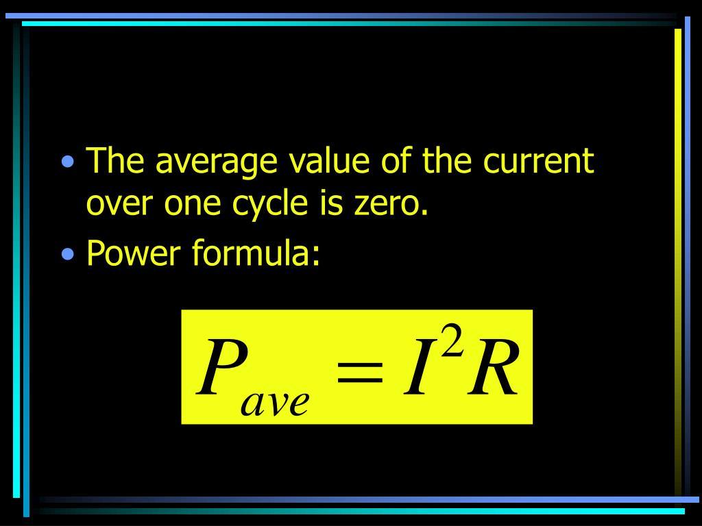 The average value