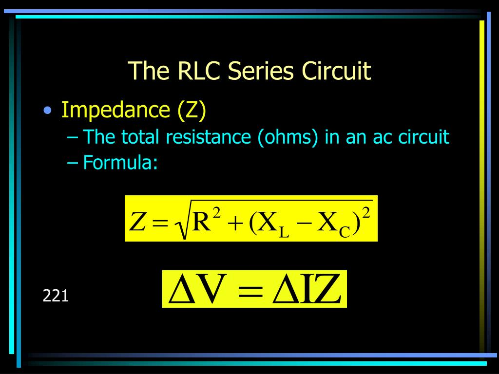 The RLC Series Circuit