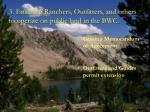 3 ensuring ranchers outfitters and others to operate on public land in the bwc