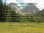 four components addressed in legislation