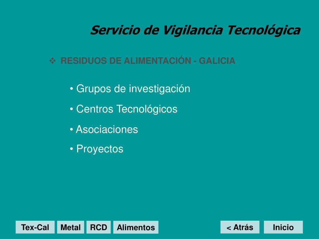 Servicio de Vigilancia Tecnológica