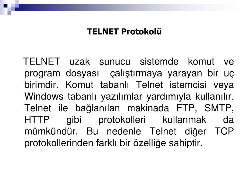 TELNET Protokolü