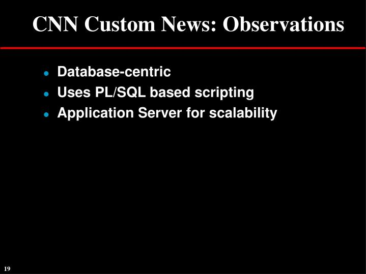 CNN Custom News: Observations
