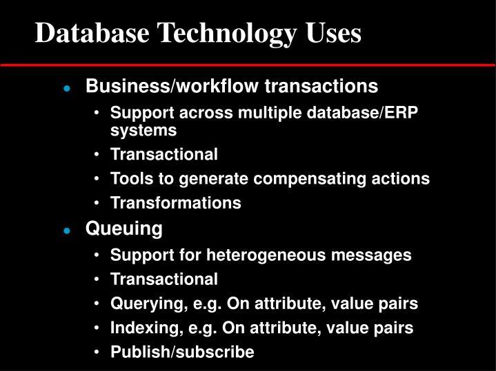 Database Technology Uses