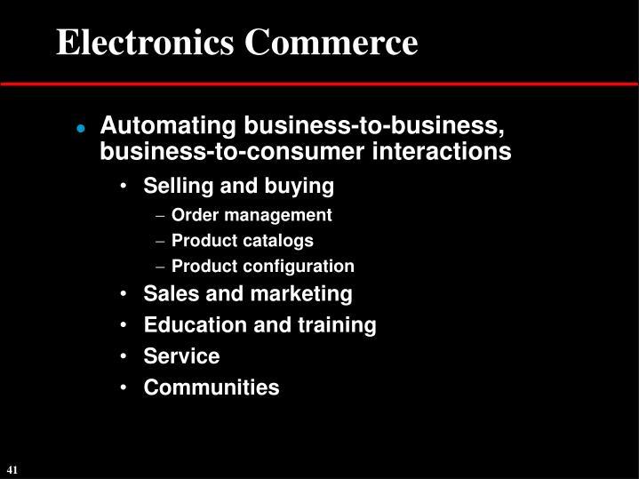 Electronics Commerce