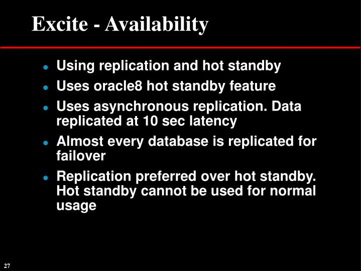 Excite - Availability