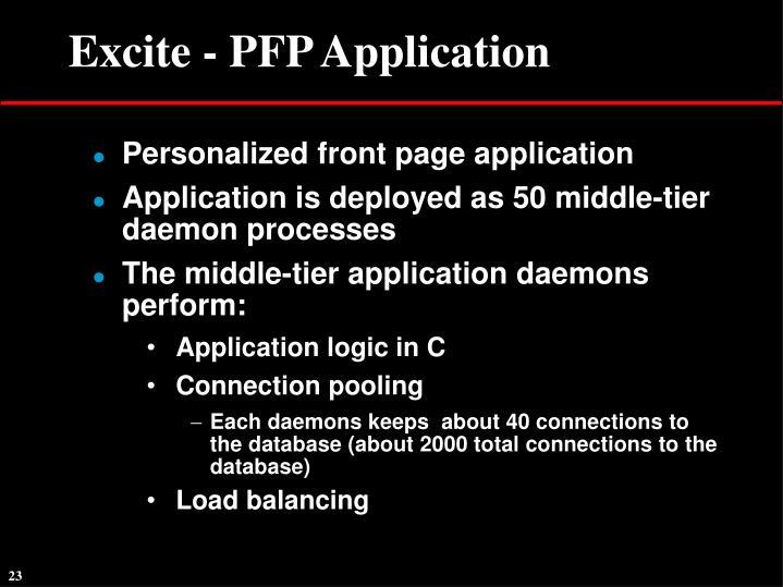 Excite - PFP Application