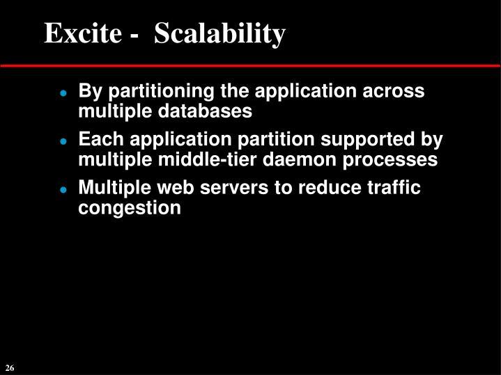 Excite -  Scalability