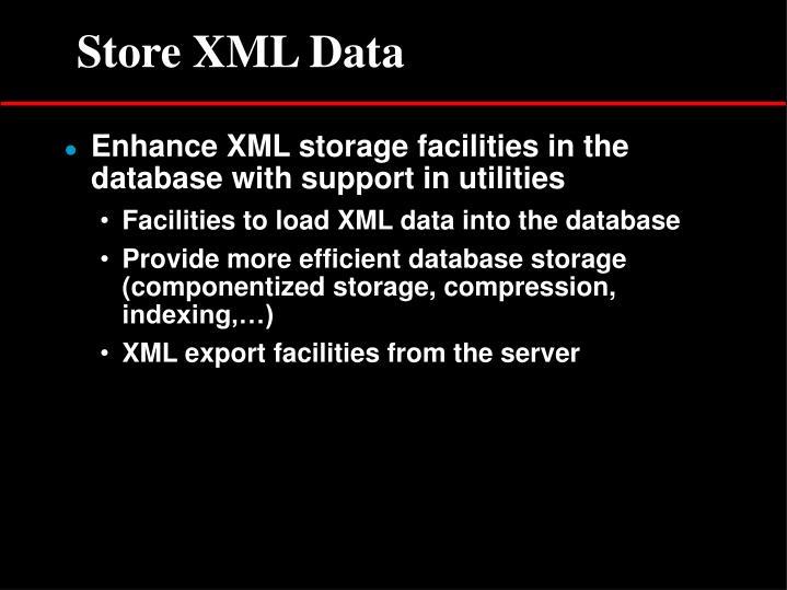 Store XML Data
