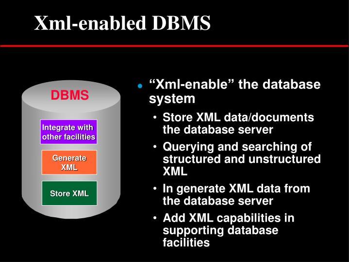 Xml-enabled DBMS