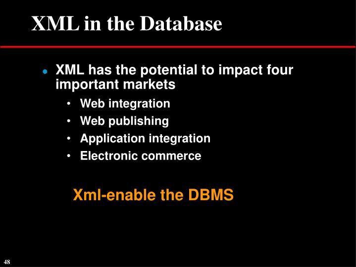 XML in the Database