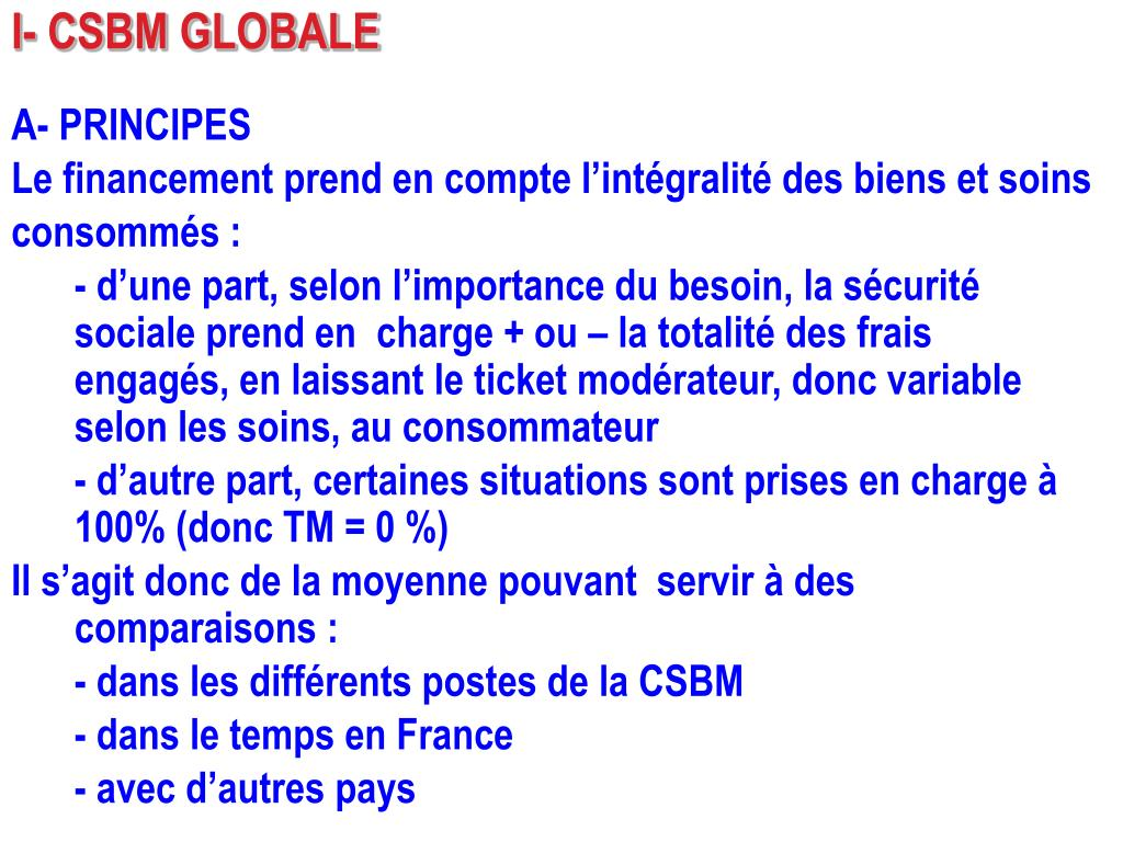 I- CSBM GLOBALE