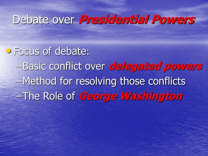 Debate over