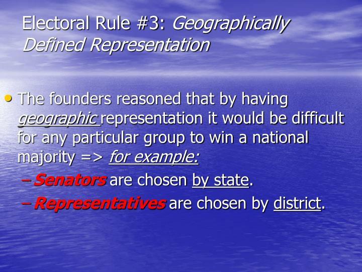 Electoral Rule #3: