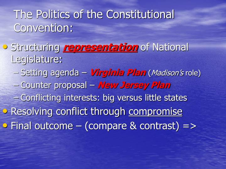 The Politics of the Constitutional Convention:
