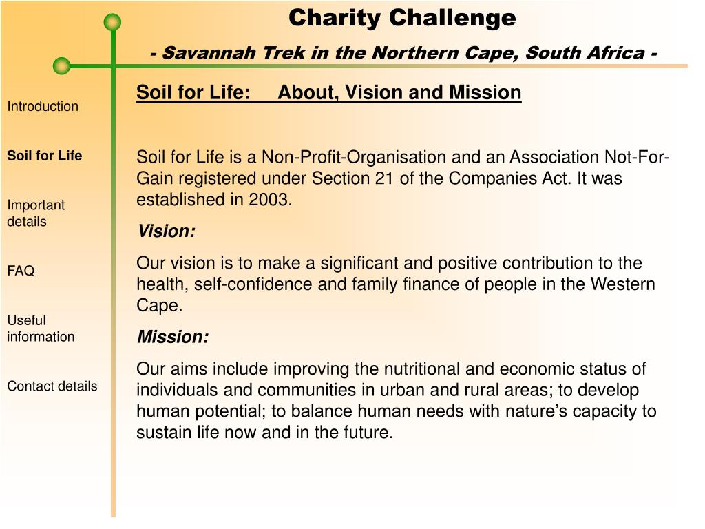Soil for Life:About, Vision and Mission