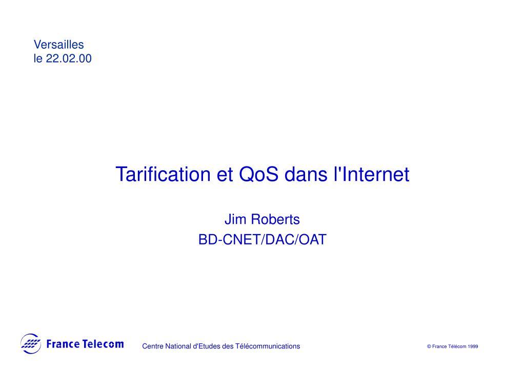 tarification et qos dans l internet