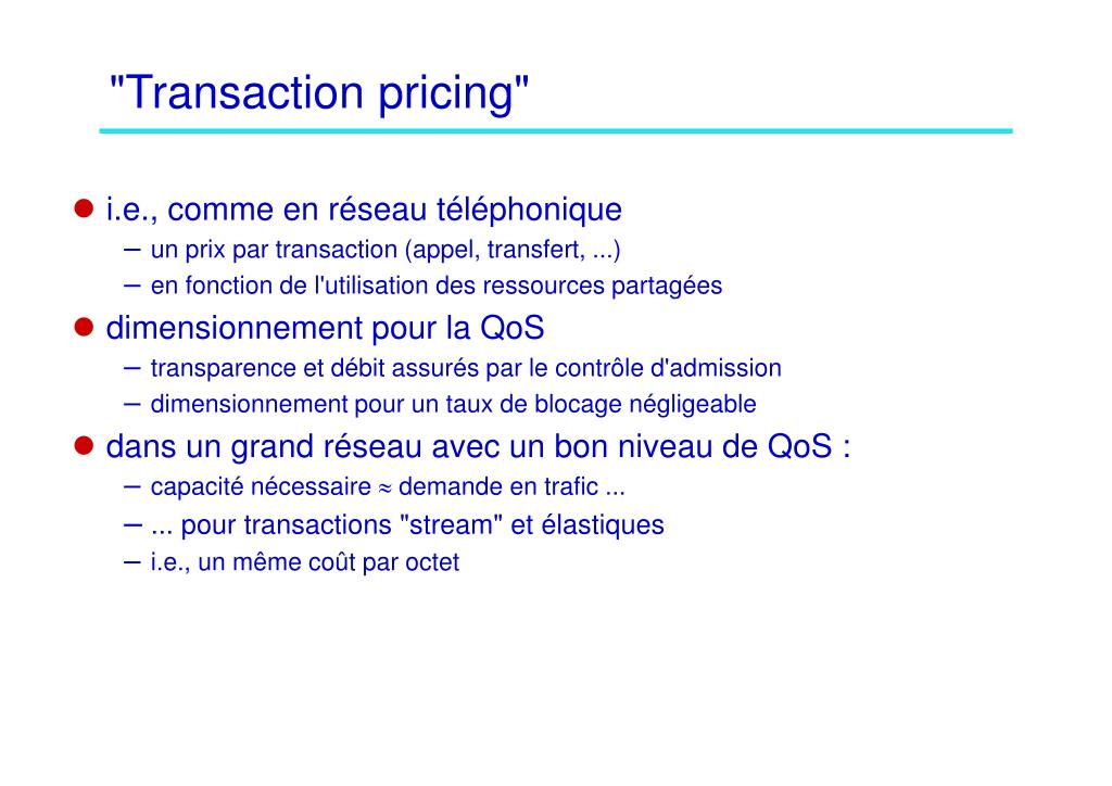 """Transaction pricing"""