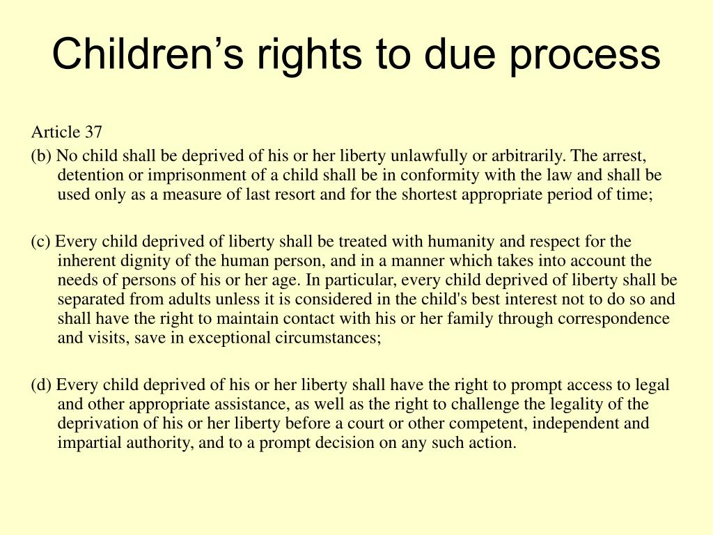 Children's rights to due process