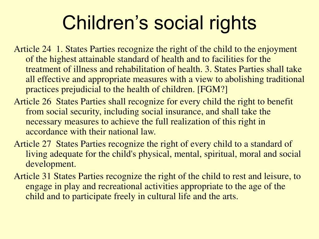 Children's social rights