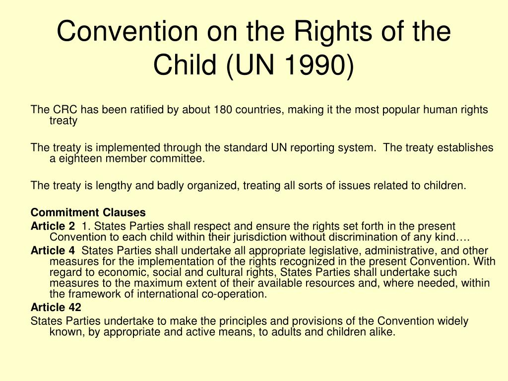 Convention on the Rights of the Child (UN 1990)