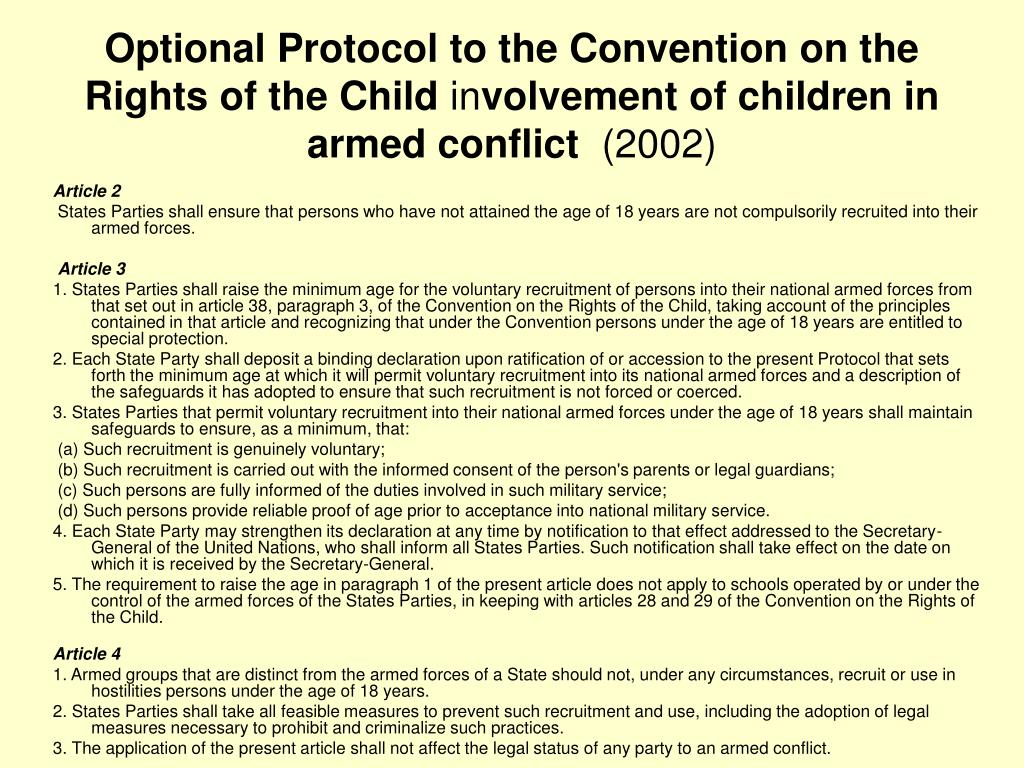 Optional Protocol to the Convention on the Rights of the Child