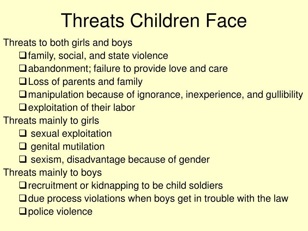 Threats Children Face