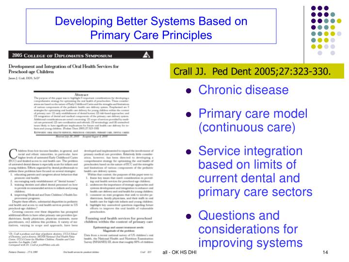 Developing Better Systems Based on