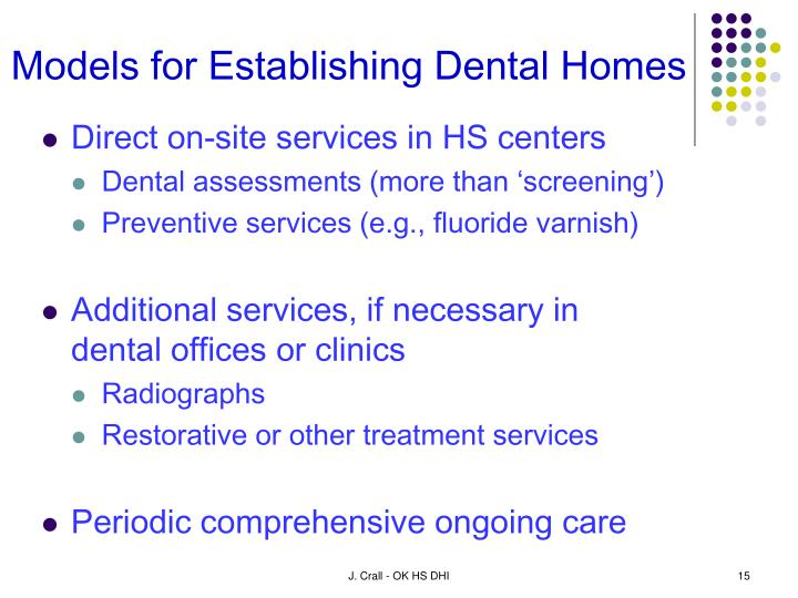 Models for Establishing Dental Homes