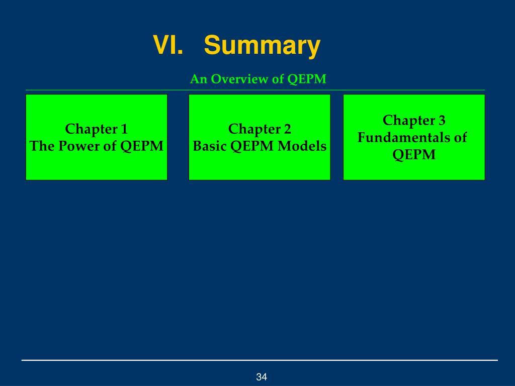 VI.Summary