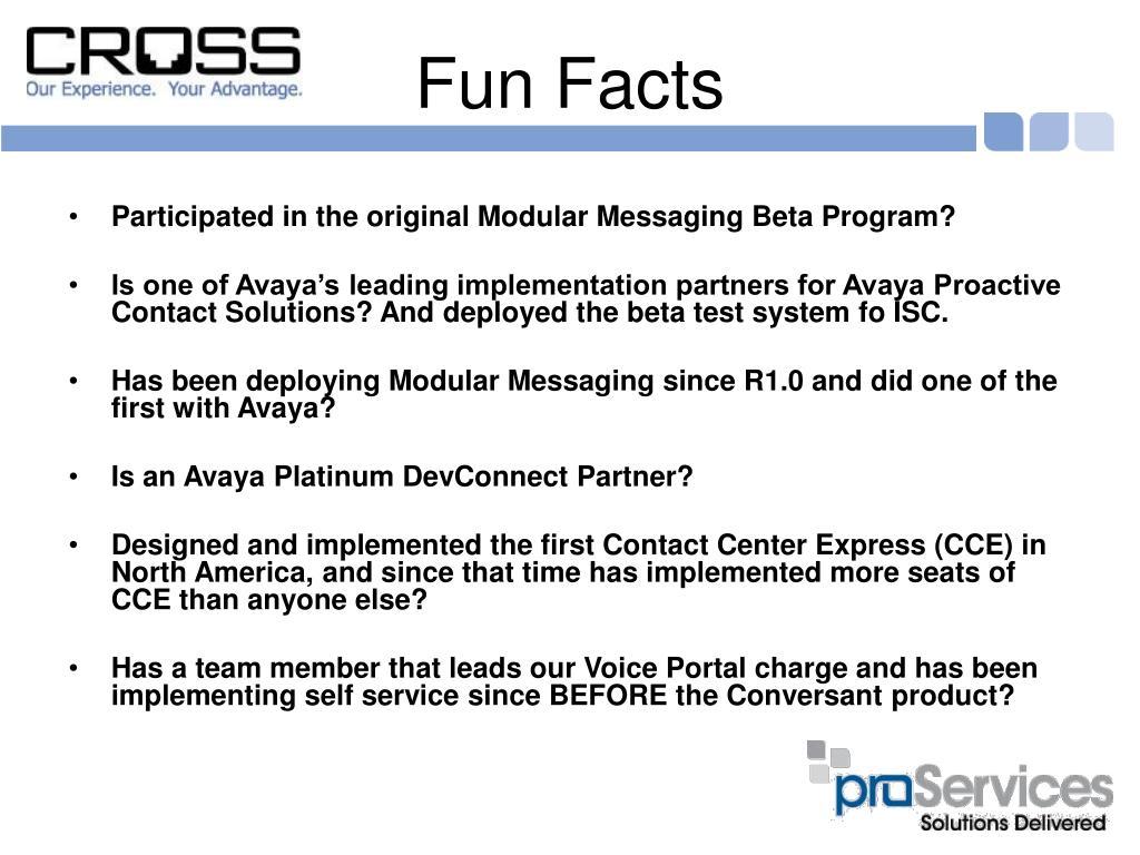 Participated in the original Modular Messaging Beta Program?