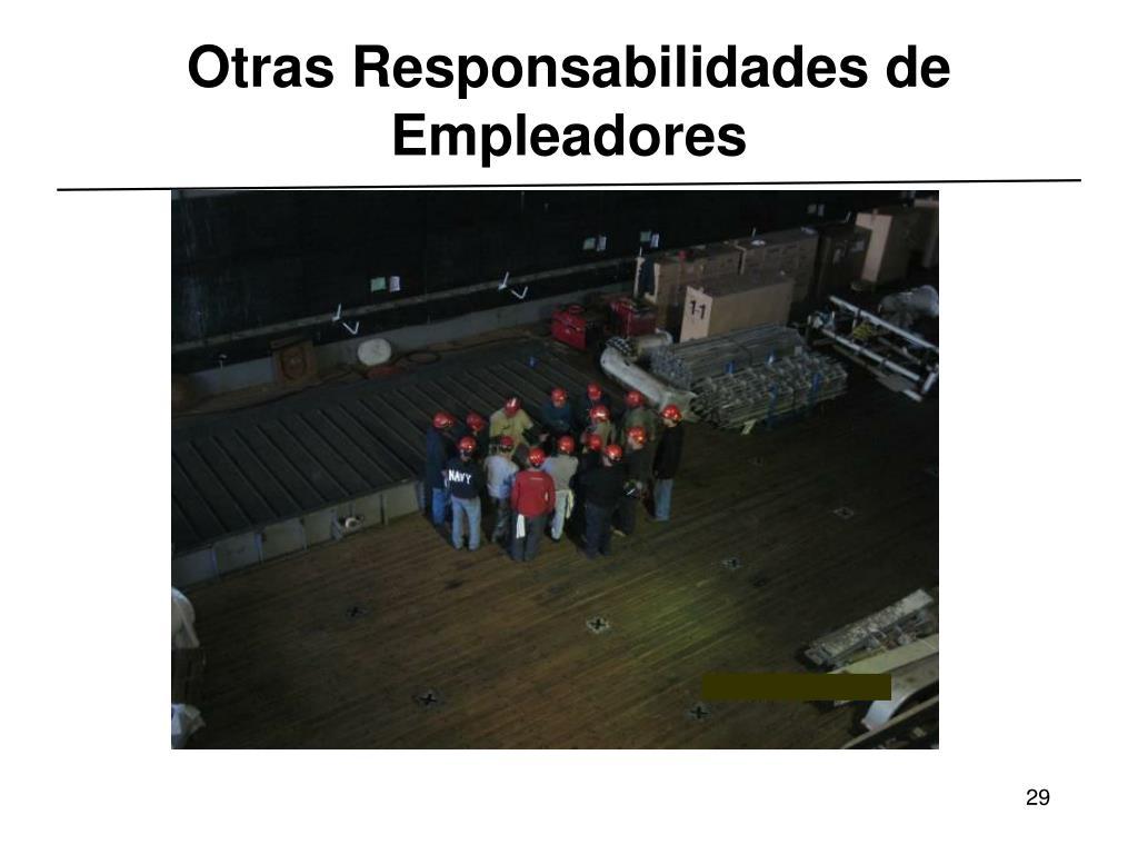 Otras Responsabilidades de Empleadores