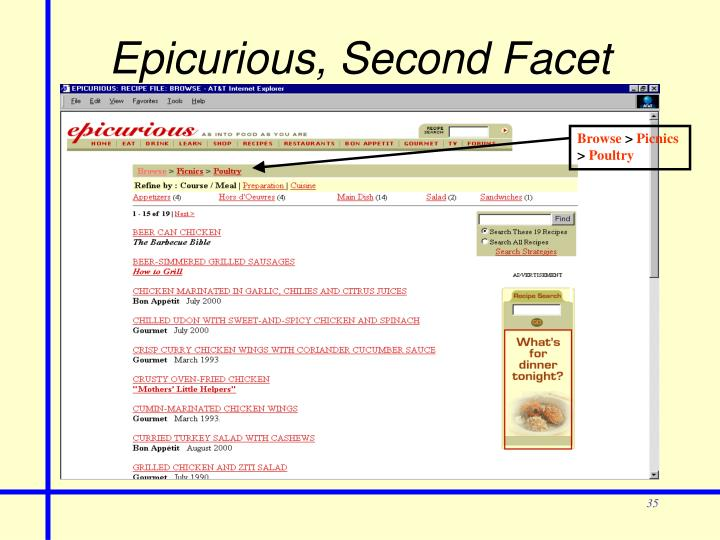 Epicurious, Second Facet