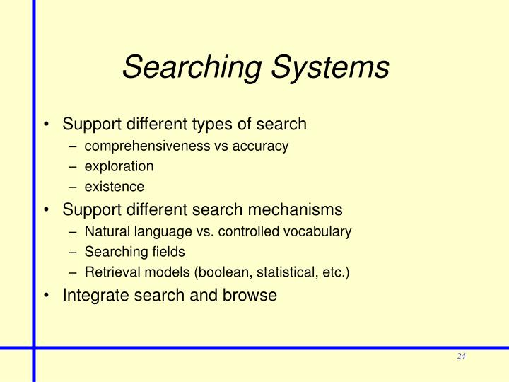 Searching Systems