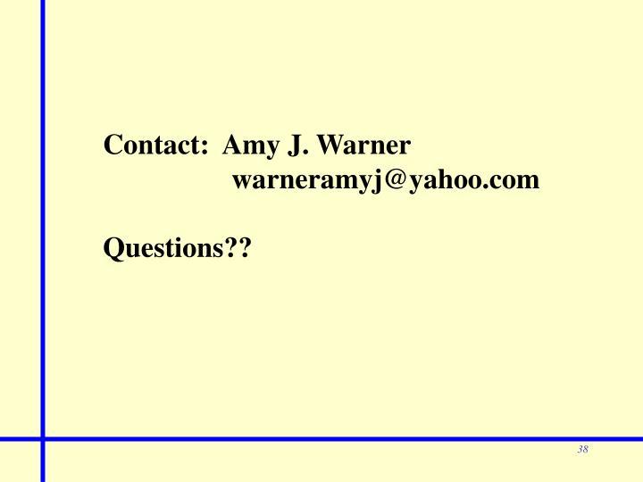 Contact:  Amy J. Warner
