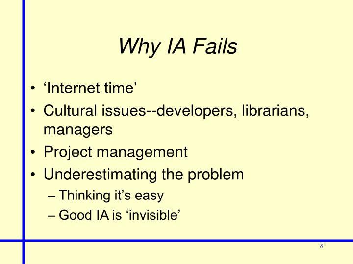 Why IA Fails