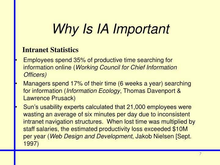Why Is IA Important